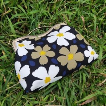 MintSaSa 大きな花が咲く口金バッグポータブルバックホワイトイエローブロンズ大容量チェーンストレージを投げることができま
