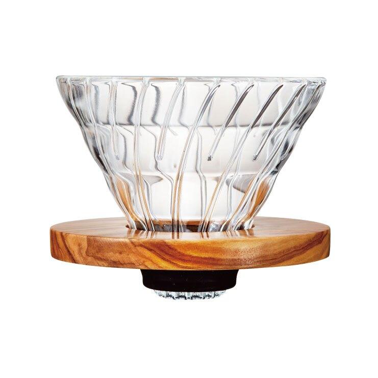 HARIO V60橄欖木玻璃濾杯 1~4杯/VDG-02-OV