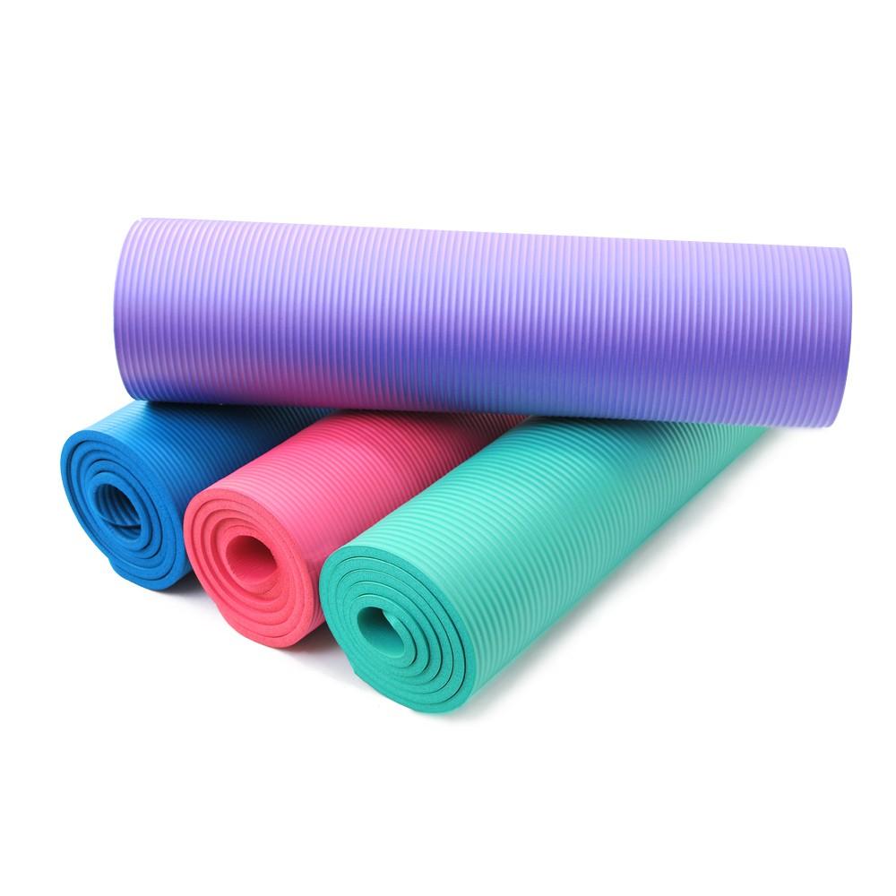 加送束帶,NBR材質10mm加厚 183cm加長款作工細緻,精品嚴選買就送瑜珈墊束帶+收納背袋---材 質:NBR尺 碼:183x61x1cm顏 色:純淨紫/瑰蜜粉/珊瑚藍/湖水綠注意事項:商品材積較