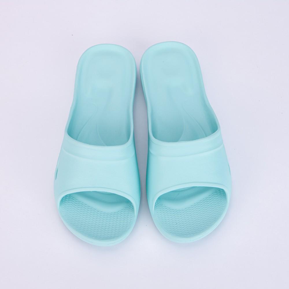 【生活工場】Q彈氣墊家居拖鞋-藍XL