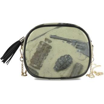 NIKIVIVI レディース チェーンバッグ、ファッション カジュアル シンプル デザイン ショルダーバッグ チェーンバッグ 手提げ 斜めかけバッグ チェーンバッグ オールシーズン、古い武器弾丸砂漠