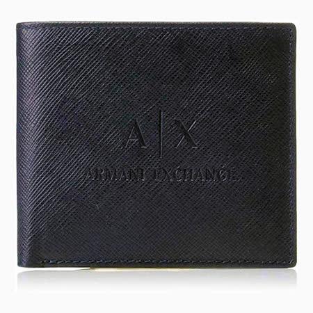 【A/X】2020男時尚阿瑪尼深寶藍色LOGO皮夾【預購】