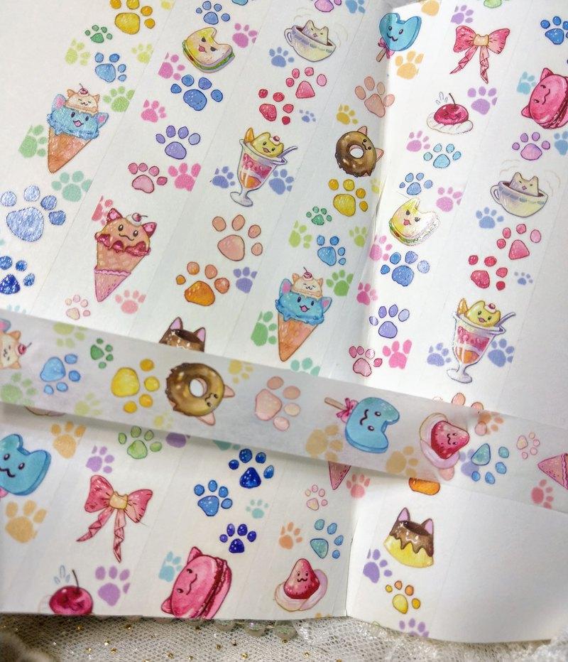 點心貓紙膠帶