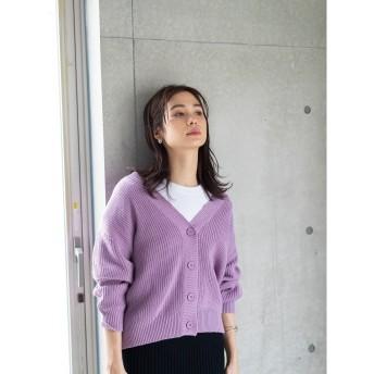 【オンワード】 koe(コエ) e ショートカーディガン Purple F レディース 【送料無料】
