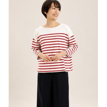 I.T.'S. international(イッツインターナショナル)/パネルボーダーバスクTシャツ【CLASSY3月号掲載】