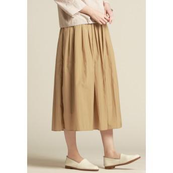 Pao de lo 【WEBサイズ別注】ストーンナイロンスカート その他 スカート,キャメル