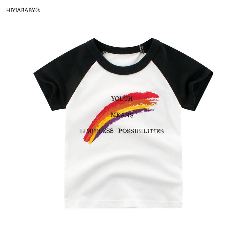 女生拼袖短袖上衣夏季新款韓版童裝孩子衣服 兒童純棉短袖T恤汗衫