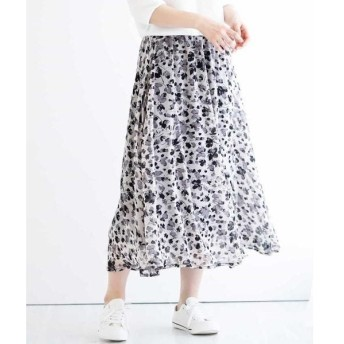 MK MICHEL KLEIN / エムケーミッシェルクラン 【洗濯機で洗える】花柄マキシスカート