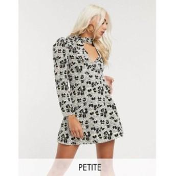 トップショップ Topshop Petite レディース ワンピース シャツワンピース ワンピース・ドレス mini shirt dress in ivory クリーム