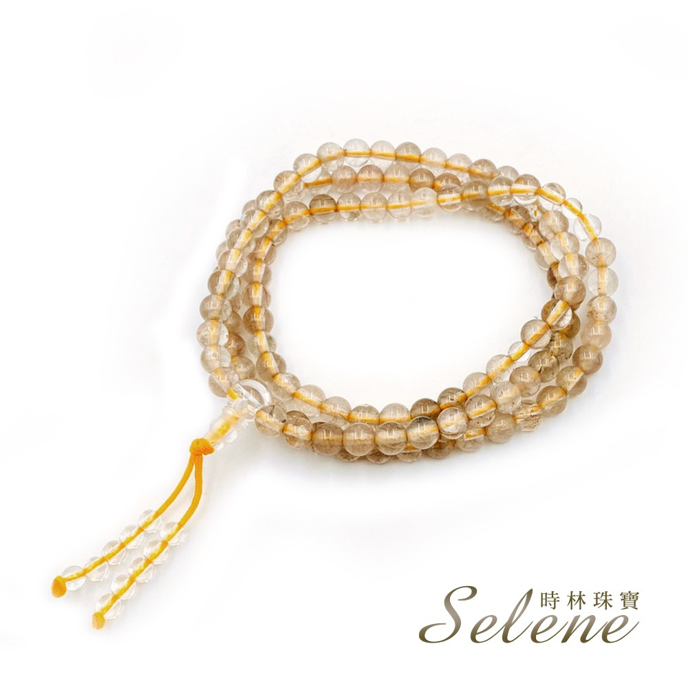 【Selene】開運吉祥髮晶108顆念珠(5-6mm)