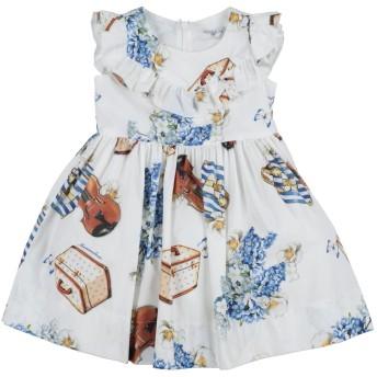 《セール開催中》MONNALISA ガールズ 0-24 ヶ月 ワンピース・ドレス ホワイト 24 コットン 100%