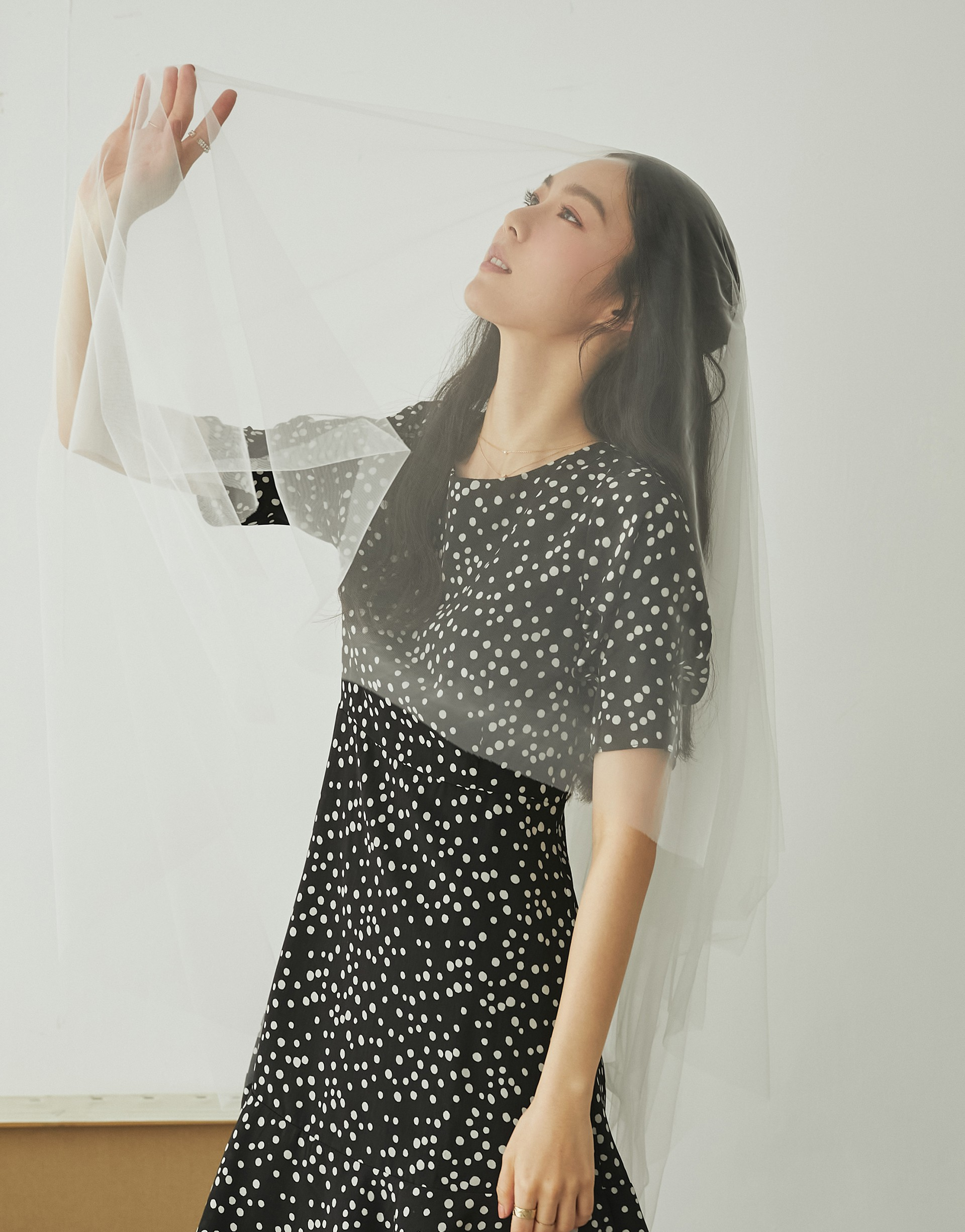 PAZZO+赫本點點波浪洋裝