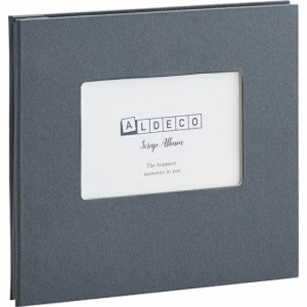 セキセイ ハーパーハウス スクラップアルバム ALDECOミニ ブラック XP-3818-60