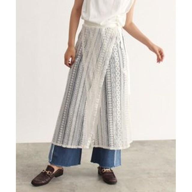 【OZOC:スカート】レース巻きスカート