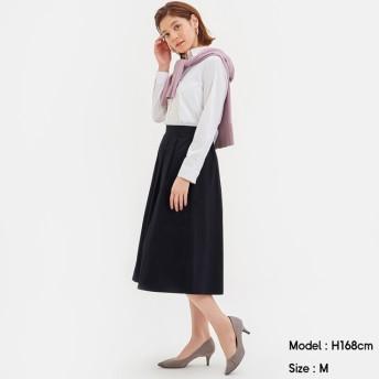 (GU)カラーフレアスカート NAVY M