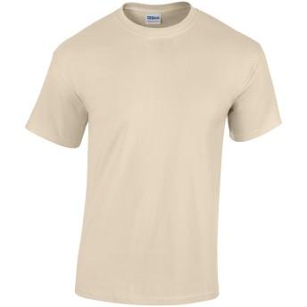 (ギルダン) Gildan メンズ ヘビーコットン 半袖Tシャツ トップス カットソー (3XL) (サンド)