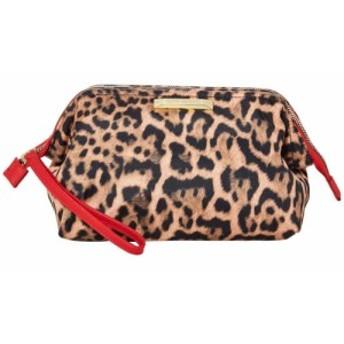 スティーブ マデン Steve Madden レディース ポーチ リストレット Frame Top Cosmetic Wristlet Leopard