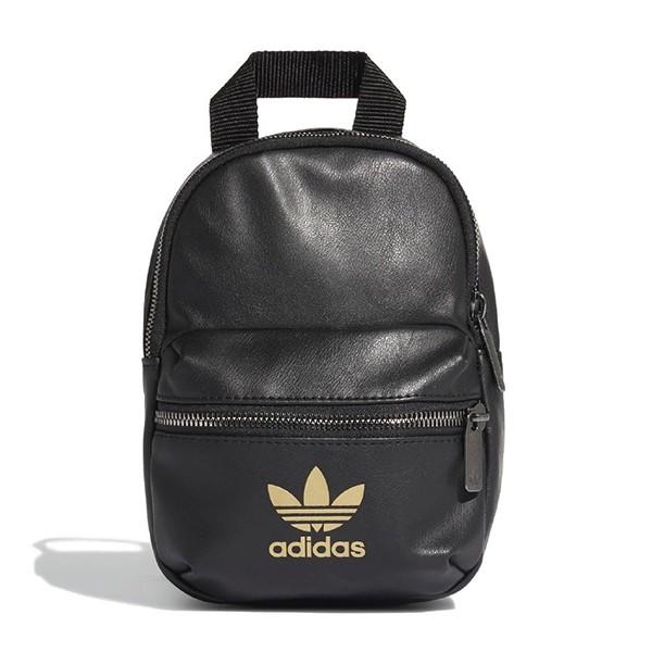 ADIDAS 【FL9629】側背包 迷你後背包 三葉草LOGO 黑金色