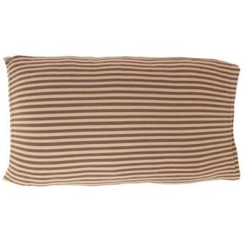 メリーナイト(Merry Night) ニット素材 枕カバー のびのびタイプ 「ボーダー」 32×52cm ブラウン NT32521-93