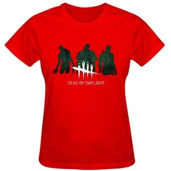 TingTingBoxレディース 半袖 tシャツ プリント Dead-By-Daylight 100%綿 快適 オリジナルトップス 上着 ギフト 綺麗
