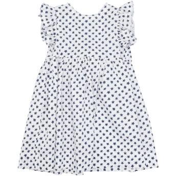 《セール開催中》IL GUFO ガールズ 3-8 歳 ワンピース&ドレス ホワイト 3 リネン 64% / コットン 36%