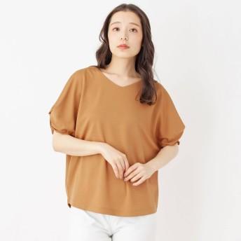 SHOO・LA・RUE(シューラルー)/袖コンシャスVネックプルオーバー