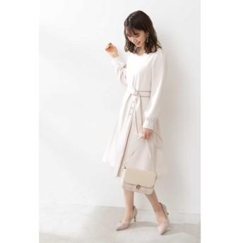 【プロポーションボディドレッシング/PROPORTION BODY DRESSING】 ◆バイカラーパイピングフレアワンピース
