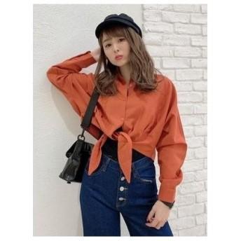 CECIL McBEE 裾縛りシャツ オレンジ