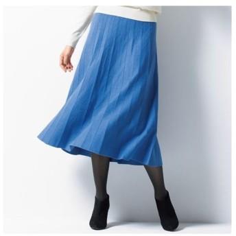 【バーゲン】ニットプリーツスカート M L LL|1707-758801