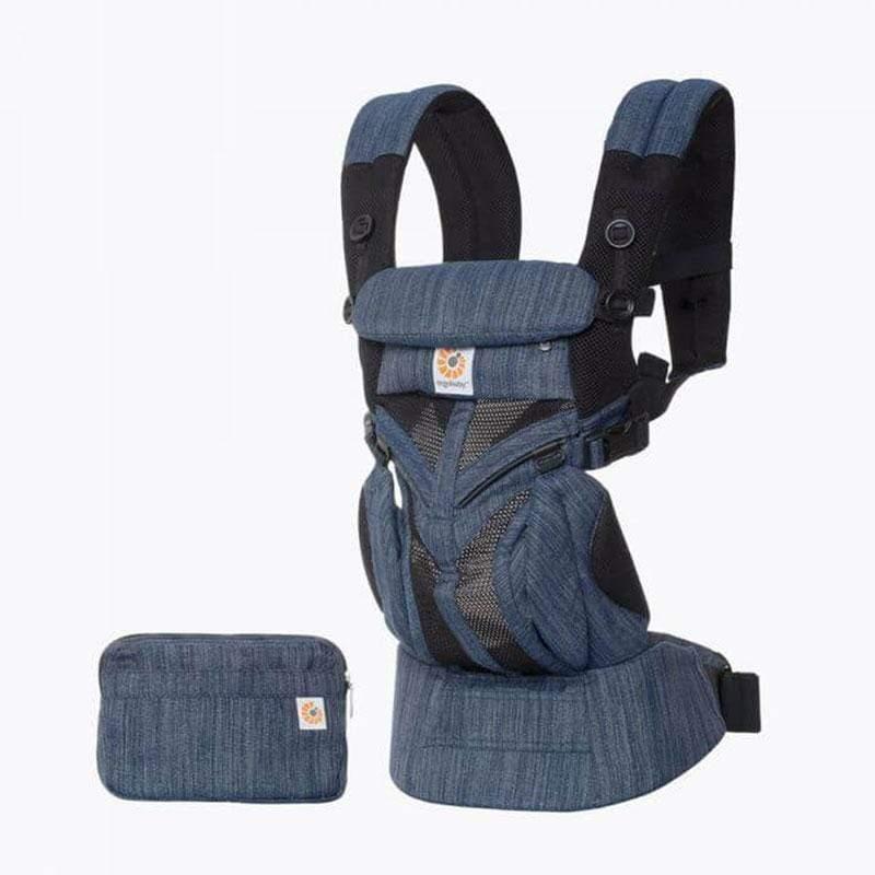 Omni全階段型四式360透氣款嬰兒揹巾/揹帶-牛仔藍 F