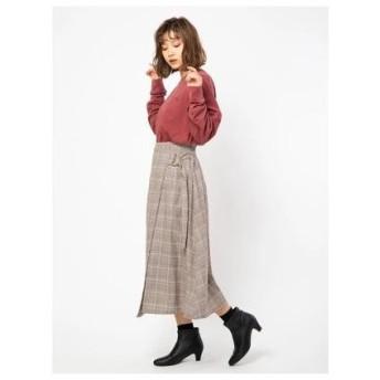 セシルマクビー CECIL McBEE Dカンラップスカート (ブラウン)