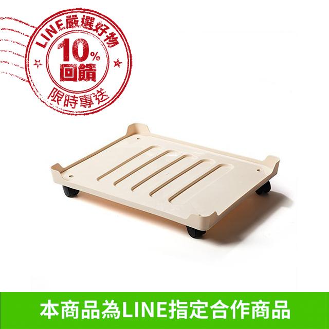 66L鋼架收納箱專用托盤(附輪子)