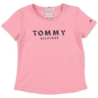 《セール開催中》TOMMY HILFIGER ガールズ 3-8 歳 T シャツ ピンク 6 コットン 100%