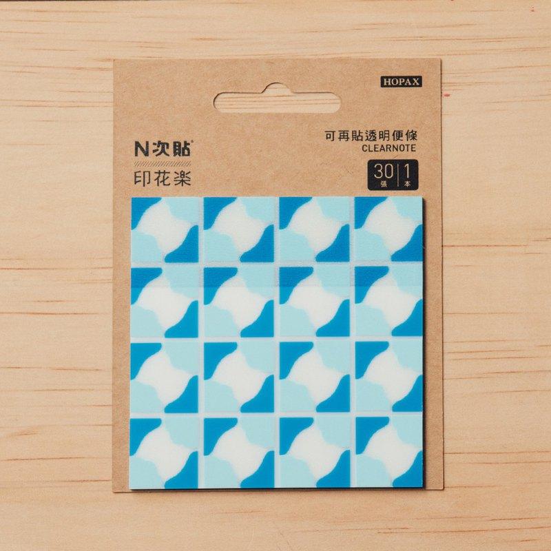 N次貼-透明便條本/老磁磚3號/多色