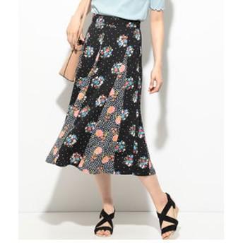 【ViS:スカート】【LIBERTY×ViS】パネル柄スカート