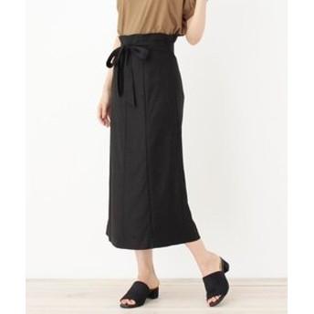 【OPAQUE. CLIP:スカート】リッチリネンストレッチスカート