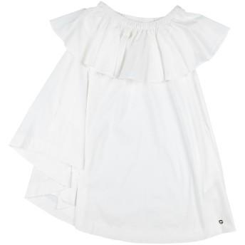 《セール開催中》TWINSET ガールズ 9-16 歳 ワンピース&ドレス ホワイト 12 コットン 98% / ポリウレタン 2%