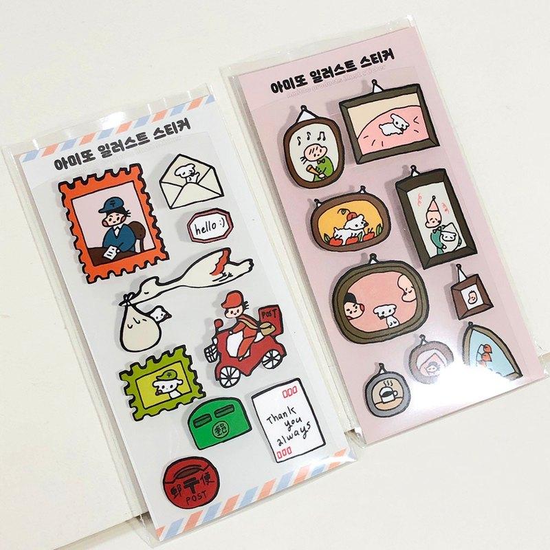 Amitto Illust Sticker Pack_2的變化/框架