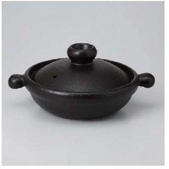 エールネット(Ale-net) 洋風土鍋(黒)和洋鍋(小) 土鍋 直火可 萬古焼