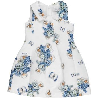 《セール開催中》MONNALISA ガールズ 3-8 歳 ワンピース&ドレス ホワイト 3 ポリエステル 72% / コットン 28%