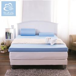 【1/3 A LIFE】8cm雅緻雙層記憶床墊-雙人5尺-抗菌布套-全平面