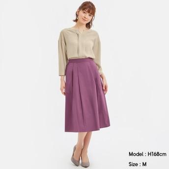 (GU)カラーフレアスカート PURPLE M