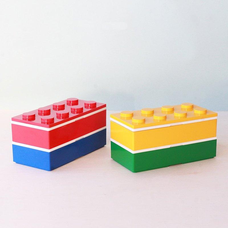 兩色彩色便當盒480毫升容器學校兒童禮物日本製造