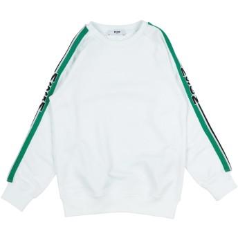 《セール開催中》MSGM ボーイズ 3-8 歳 スウェットシャツ ホワイト 8 コットン 100%