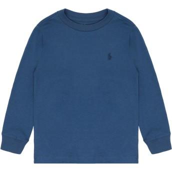 《セール開催中》RALPH LAUREN ボーイズ 3-8 歳 T シャツ ブルーグレー 5 コットン 100%