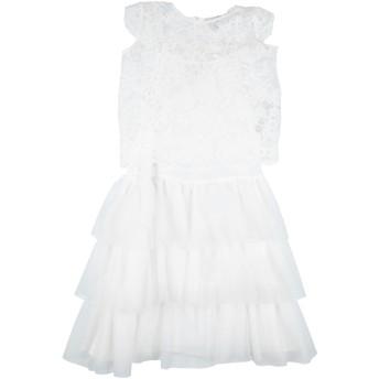 《セール開催中》TWINSET ガールズ 9-16 歳 ワンピース&ドレス ホワイト 14 レーヨン 100% / ポリエステル / ナイロン