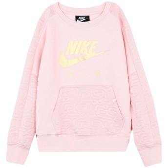 《セール開催中》NIKE ガールズ 3-8 歳 スウェットシャツ ピンク 5 コットン 60% / ポリエステル 40% G NSW NIKE AIR FLC CREW