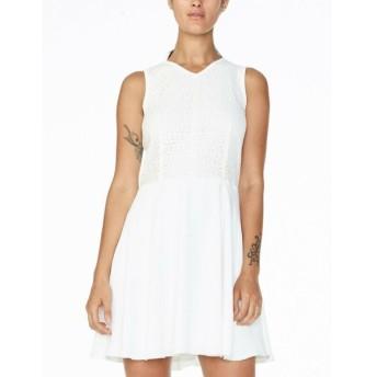ドレス 海外セレクション レディース White Armani Exchange AX Women's Jacquard Fit and Flare Mini Dress