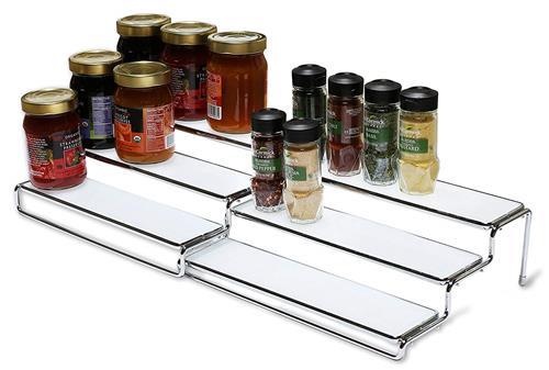 【美國代購】DecoBros 3 層可伸縮機櫃香料架 收納架 (12.5 ~25 吋) 鉻
