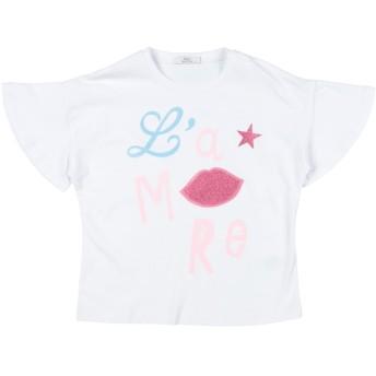 《セール開催中》Y-CL ガールズ 3-8 歳 T シャツ ホワイト 4 コットン 94% / 指定外繊維(その他伸縮性繊維) 6%